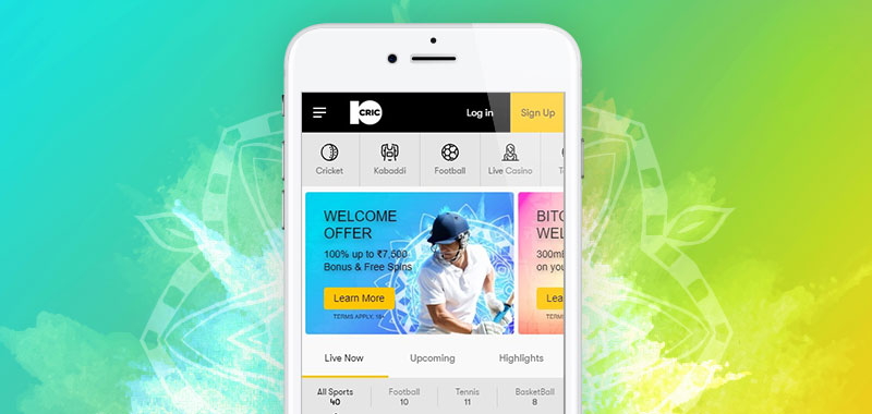 Online Sports betting and casino games at 10CRIC India
