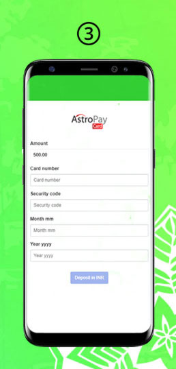 Deposit with AstroPay Step 3