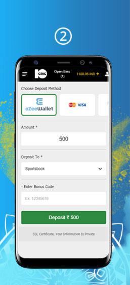 Ezeewallet Deposit Step 2