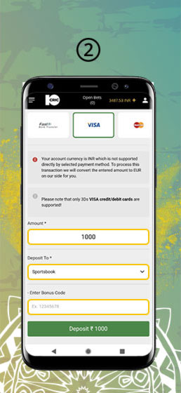 VIsa Deposit Betting