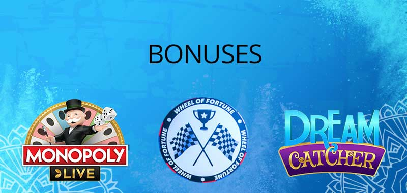 Live casino games bonuses